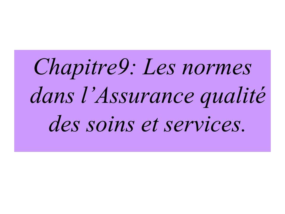 Chapitre9: Les normes dans l'Assurance qualité des soins et services.