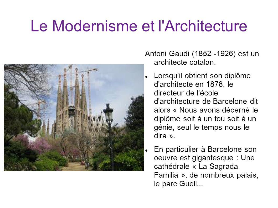Le Modernisme et l Architecture