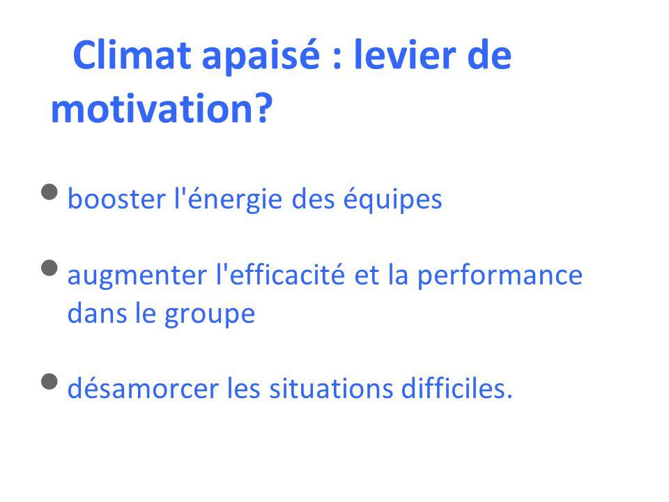Climat apaisé : levier de motivation