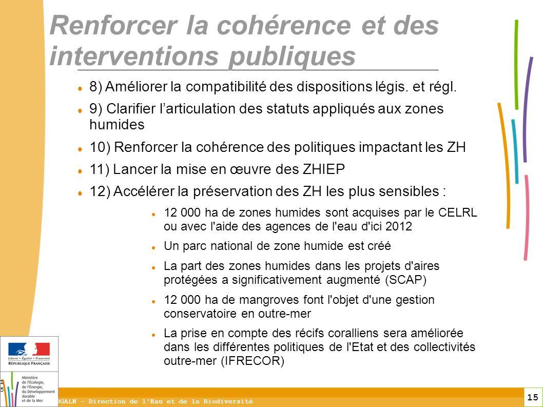 Renforcer la cohérence et des interventions publiques