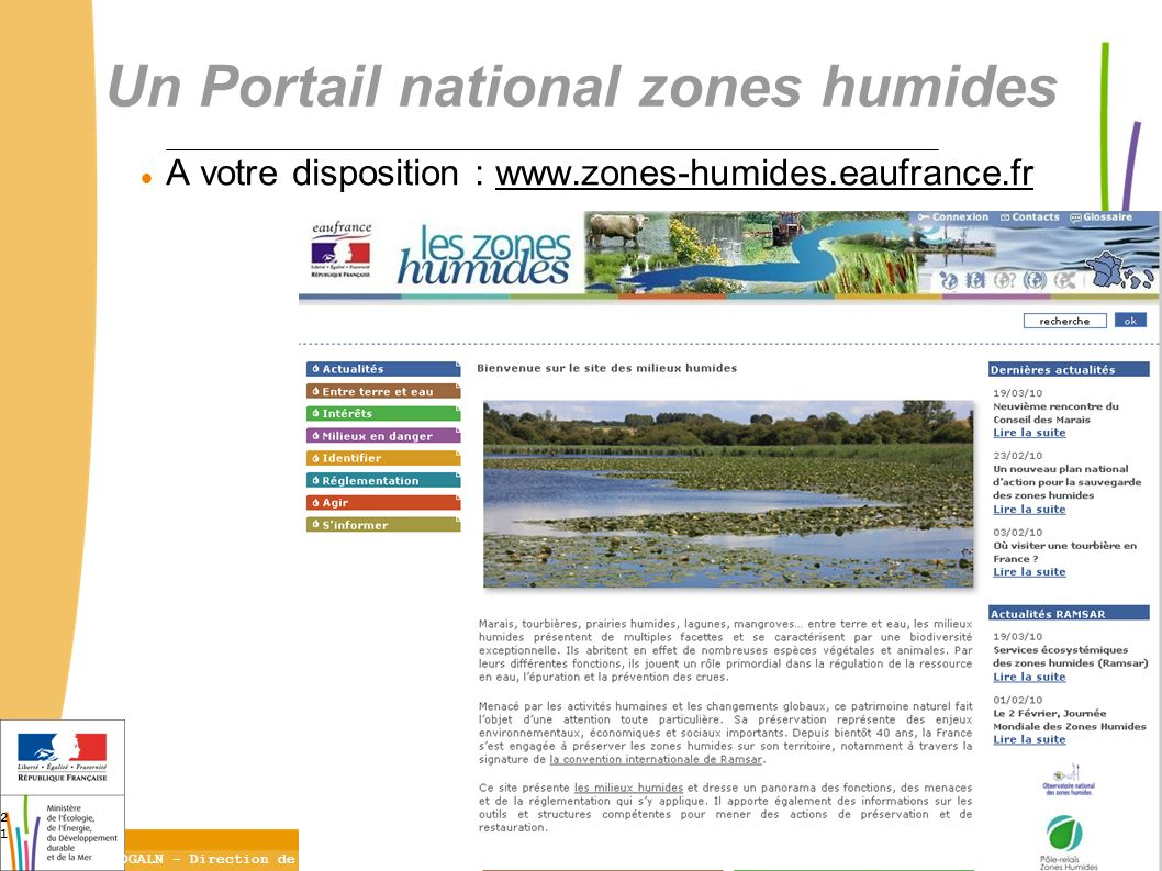 Un Portail national zones humides