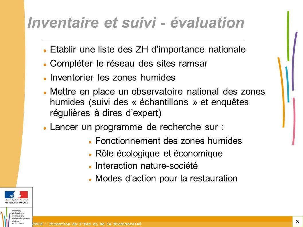 Inventaire et suivi - évaluation