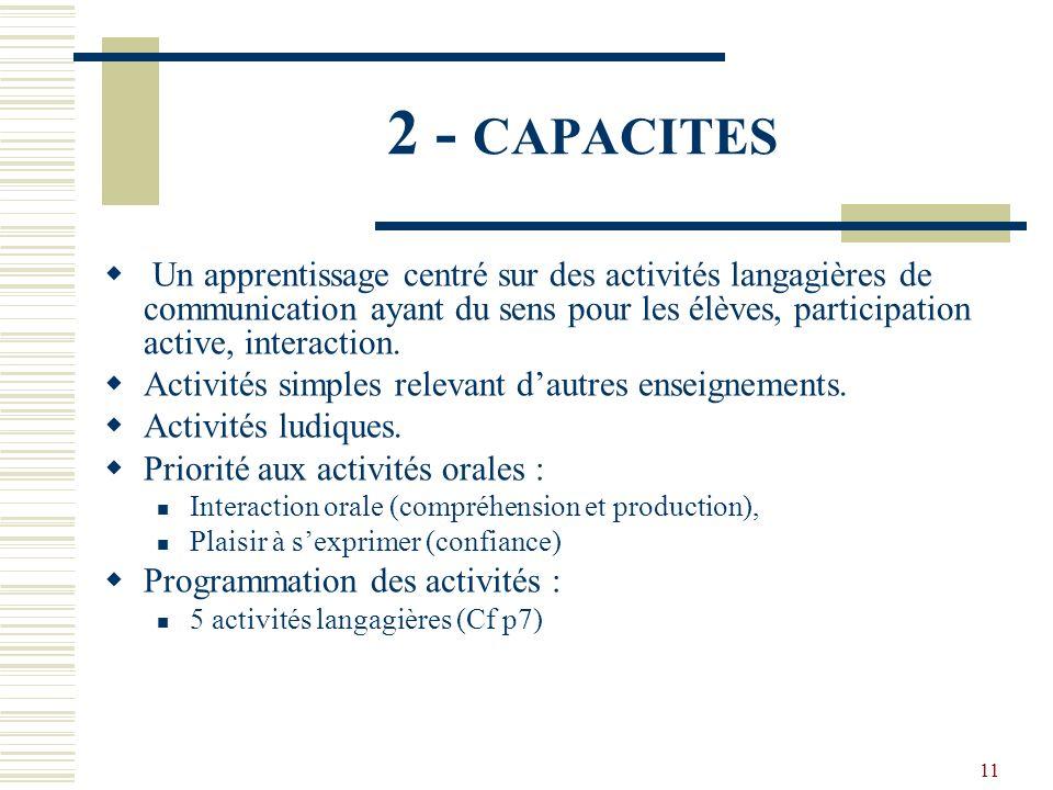 2 - CAPACITES