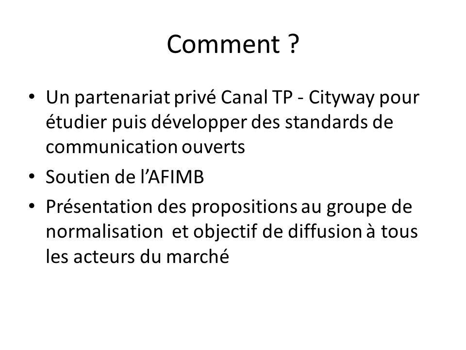 Comment Un partenariat privé Canal TP - Cityway pour étudier puis développer des standards de communication ouverts.