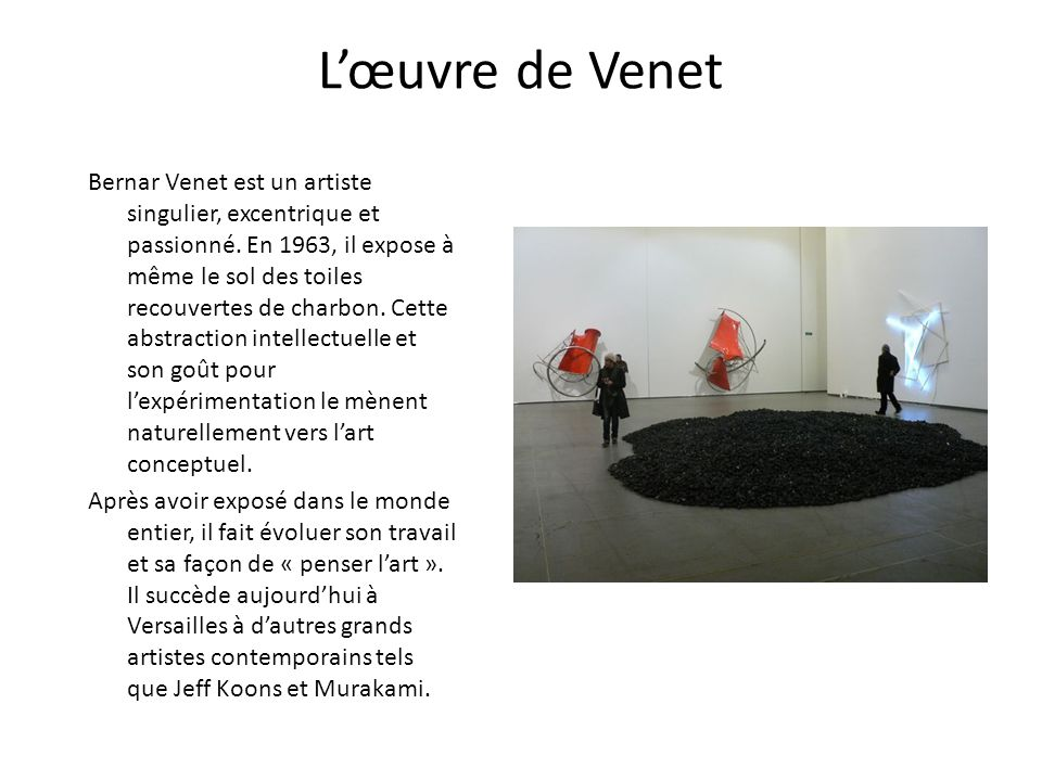 L'œuvre de Venet