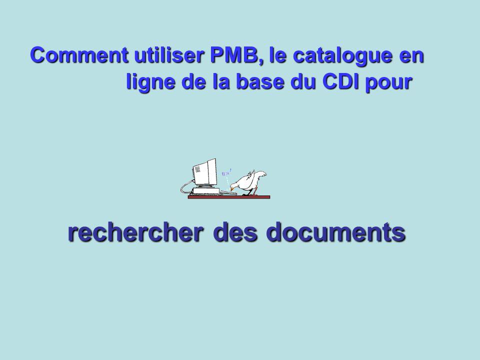 rechercher des documents