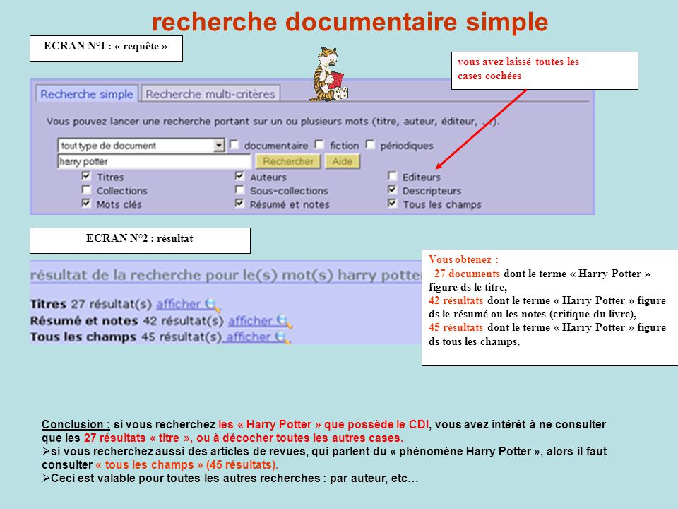 recherche documentaire simple