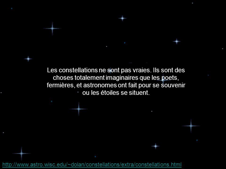 Les constellations ne sont pas vraies