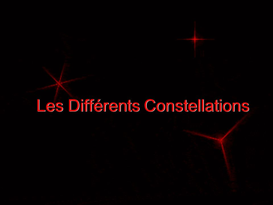 Les Différents Constellations