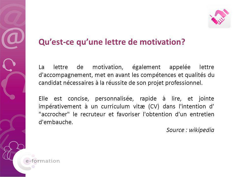 Qu'est-ce qu'une lettre de motivation