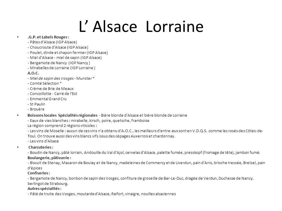 L' Alsace Lorraine