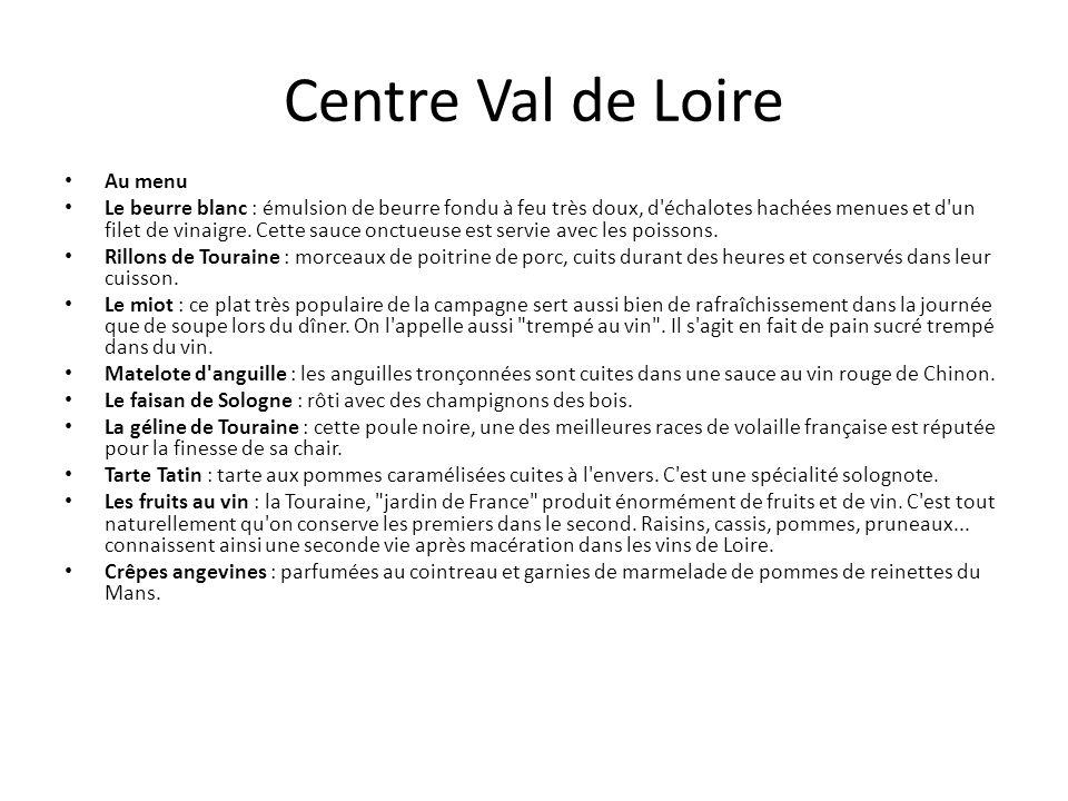 Centre Val de Loire Au menu