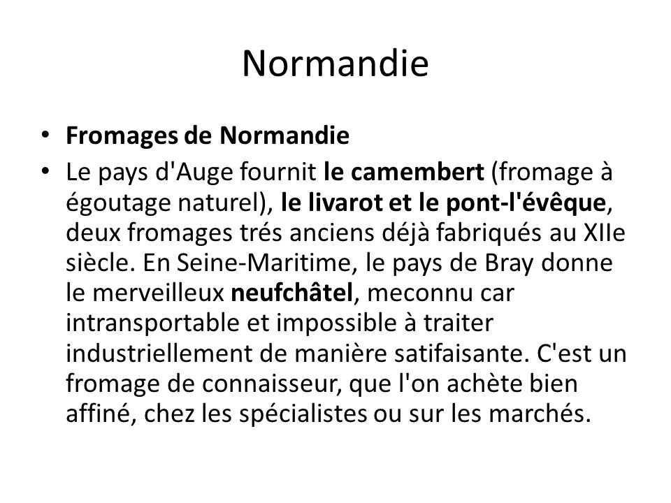 Normandie Fromages de Normandie