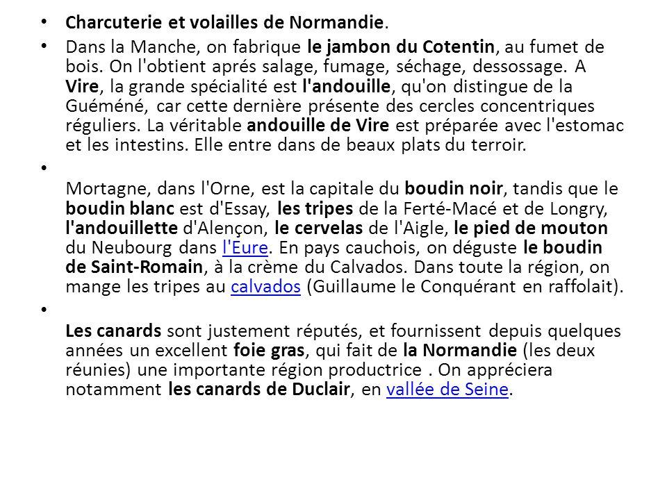 Charcuterie et volailles de Normandie.