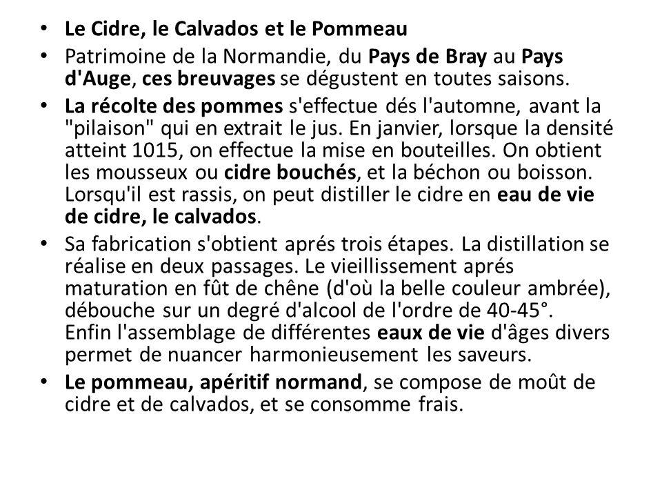 Le Cidre, le Calvados et le Pommeau