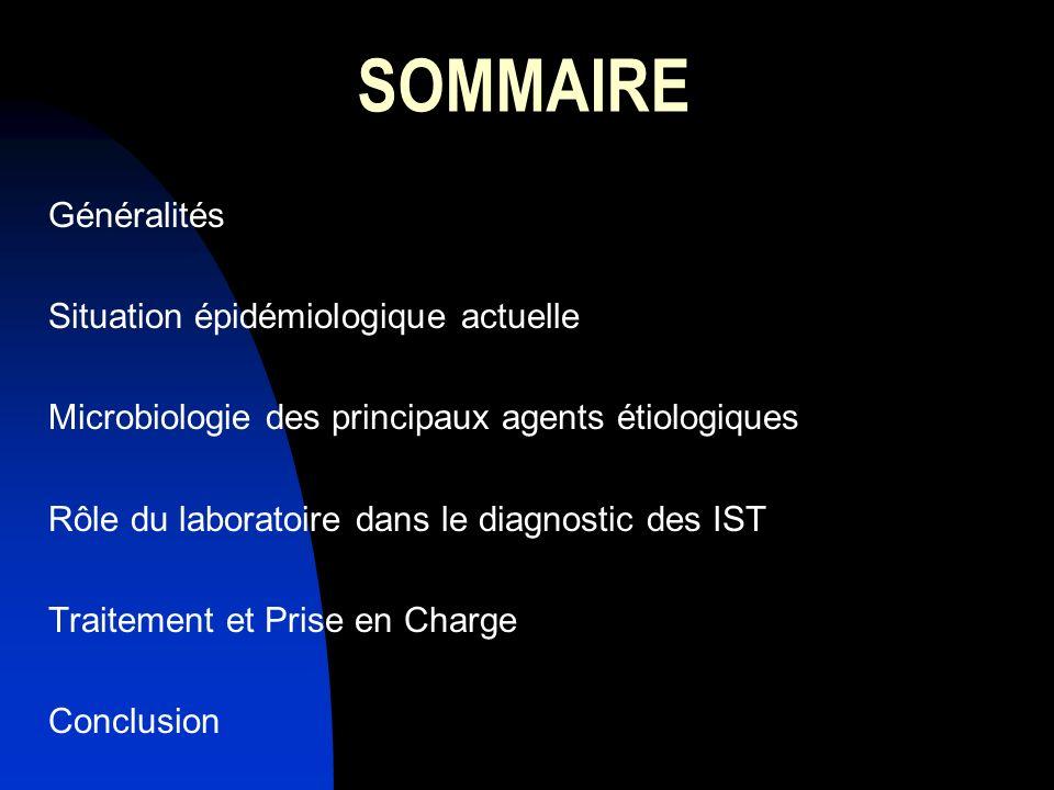 SOMMAIRE Généralités Situation épidémiologique actuelle