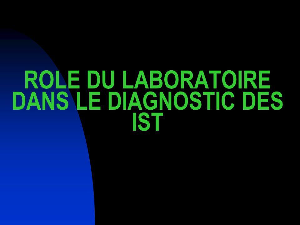 ROLE DU LABORATOIRE DANS LE DIAGNOSTIC DES IST