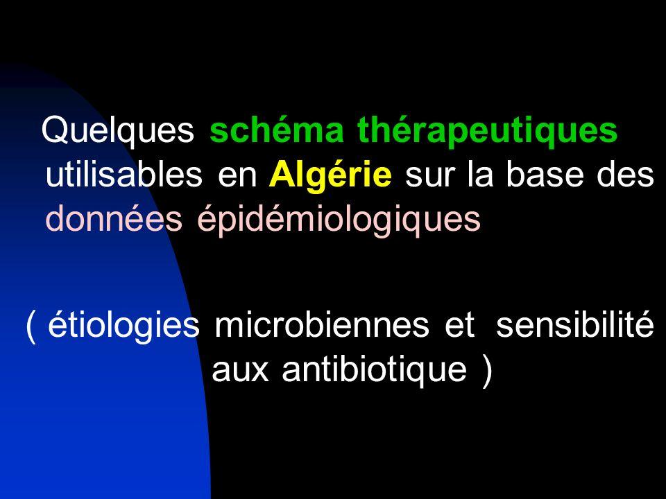 ( étiologies microbiennes et sensibilité aux antibiotique )