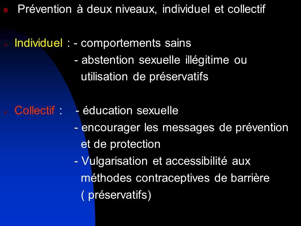 Prévention à deux niveaux, individuel et collectif