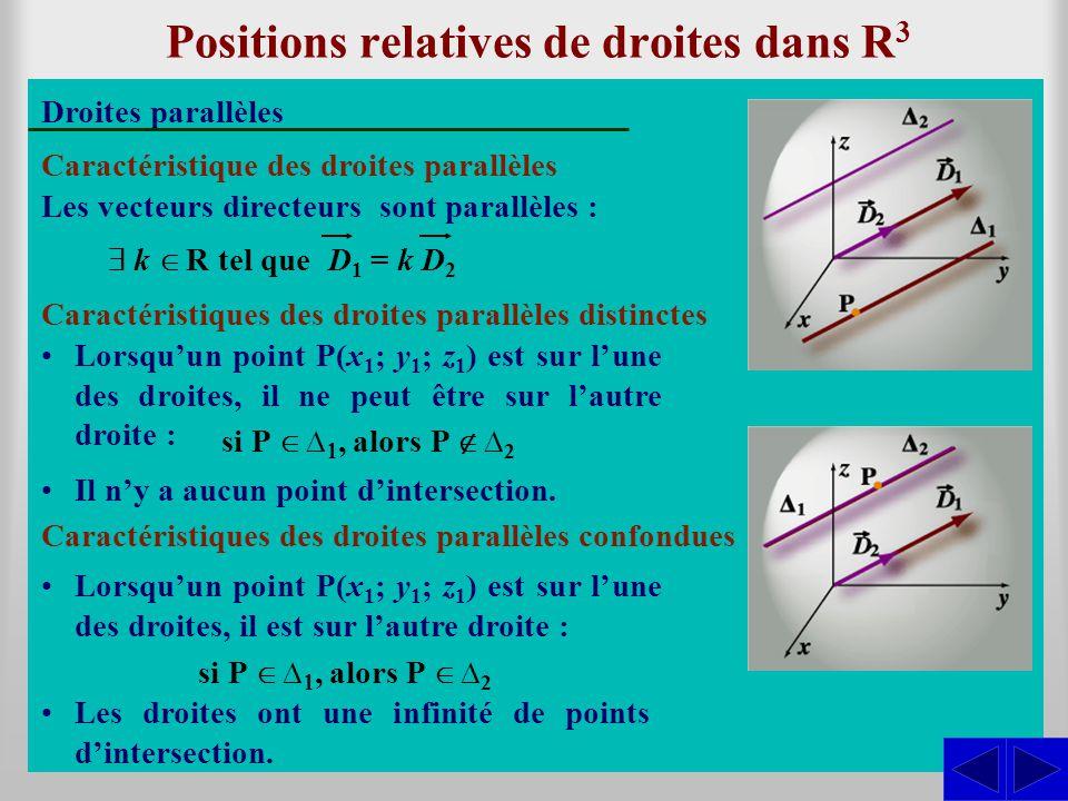 Positions relatives de droites dans R3