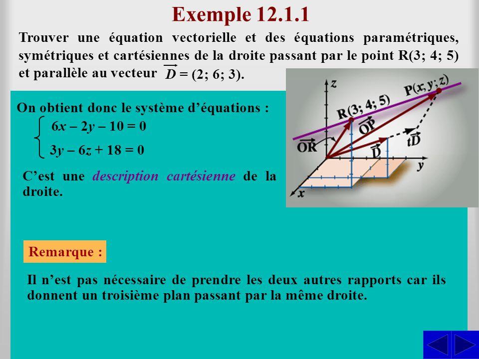 (x; y; z) = (3; 4; 5) + t (2; 6; 3) = (3 + 2t; 4 + 6t; 5 + 3t)