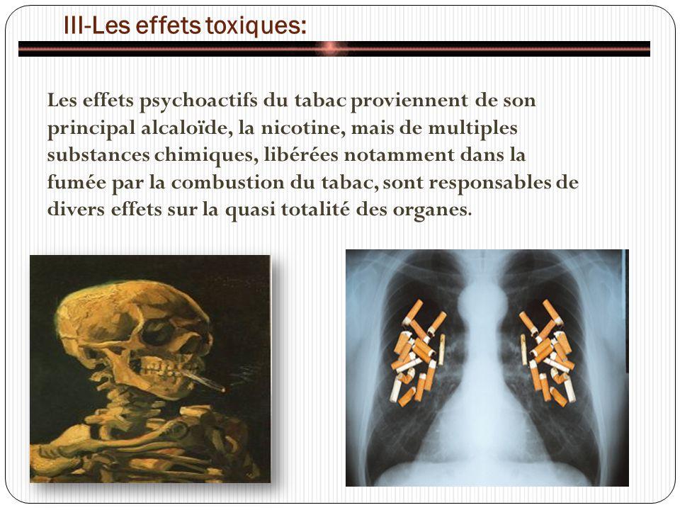 III-Les effets toxiques: