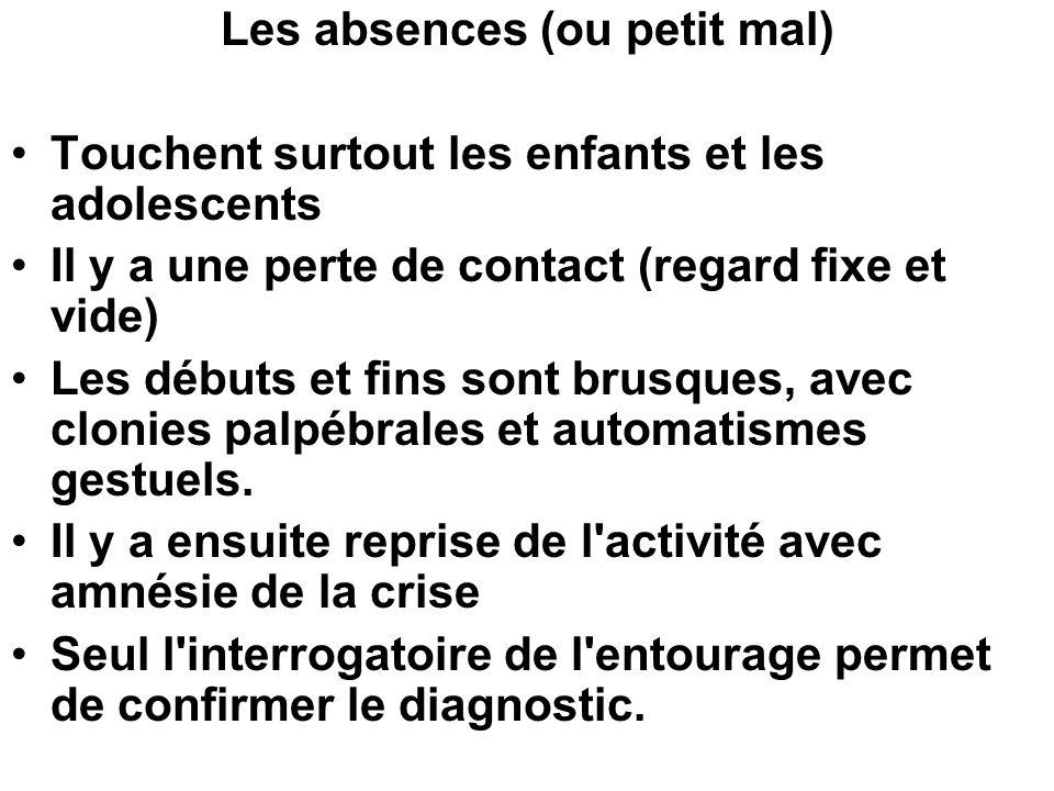 Les absences (ou petit mal)