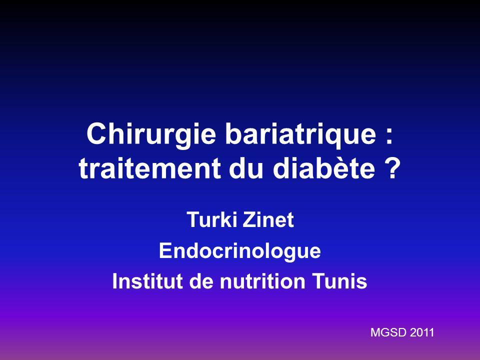 Chirurgie bariatrique : traitement du diabète