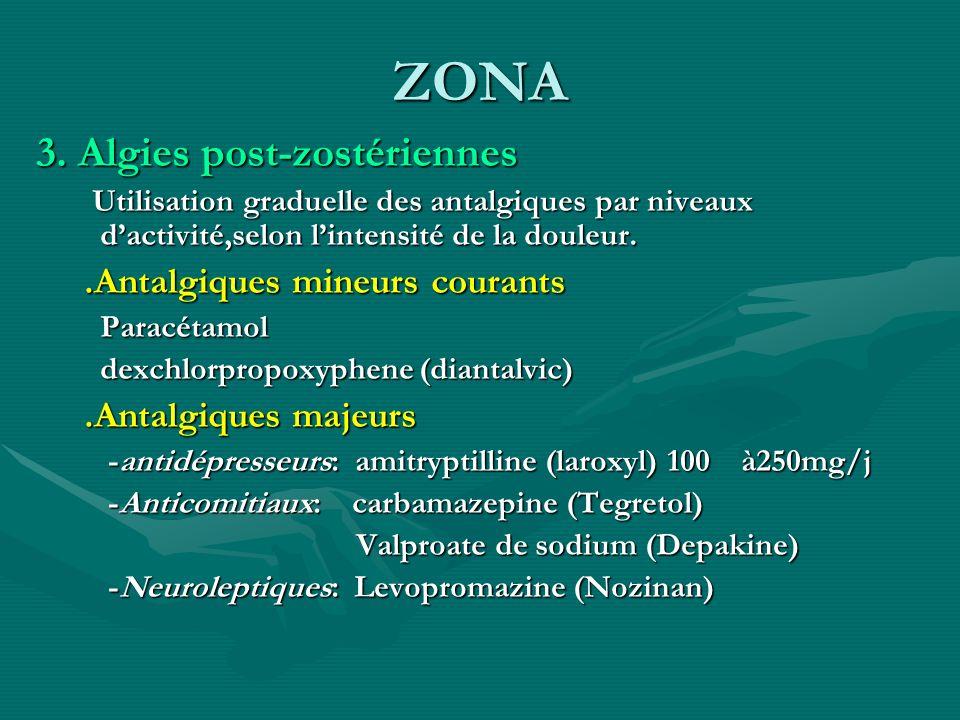 ZONA 3. Algies post-zostériennes