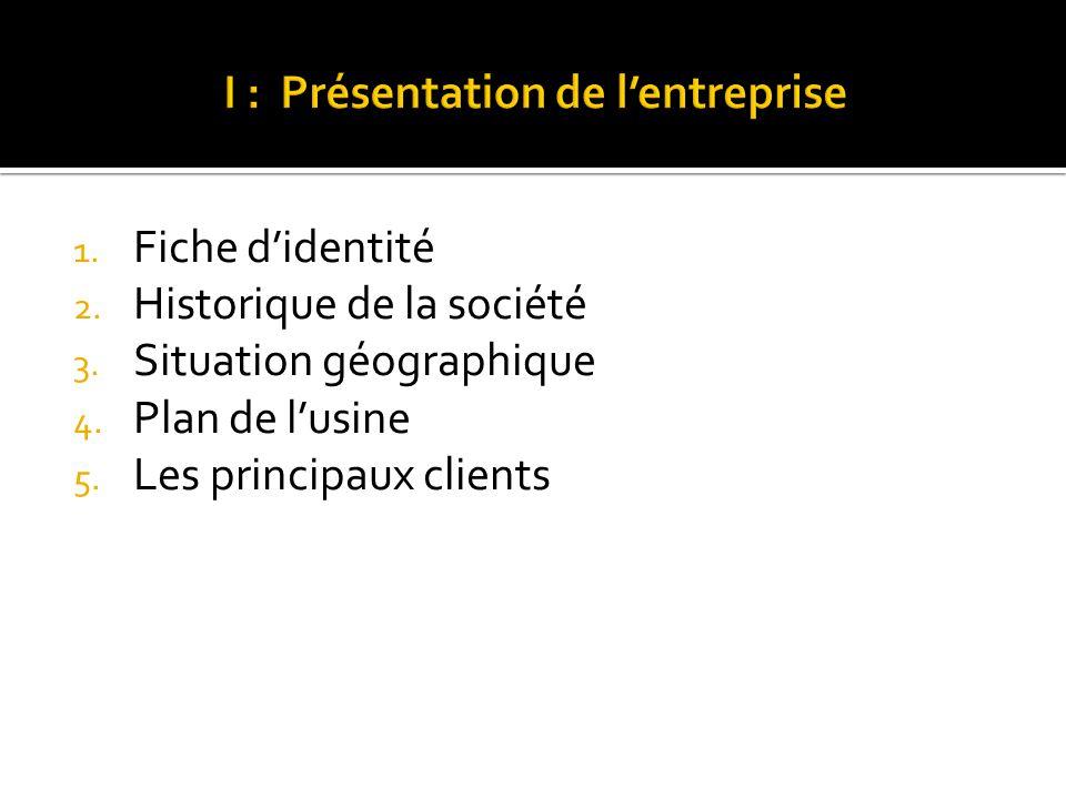 I : Présentation de l'entreprise