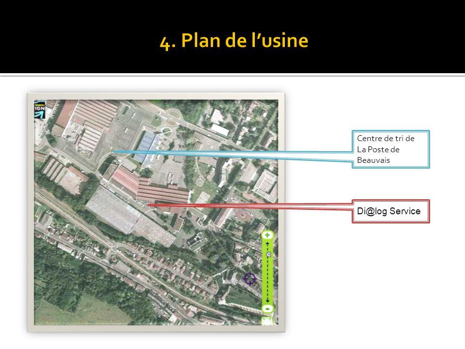4. Plan de l'usine Centre de tri de La Poste de Beauvais