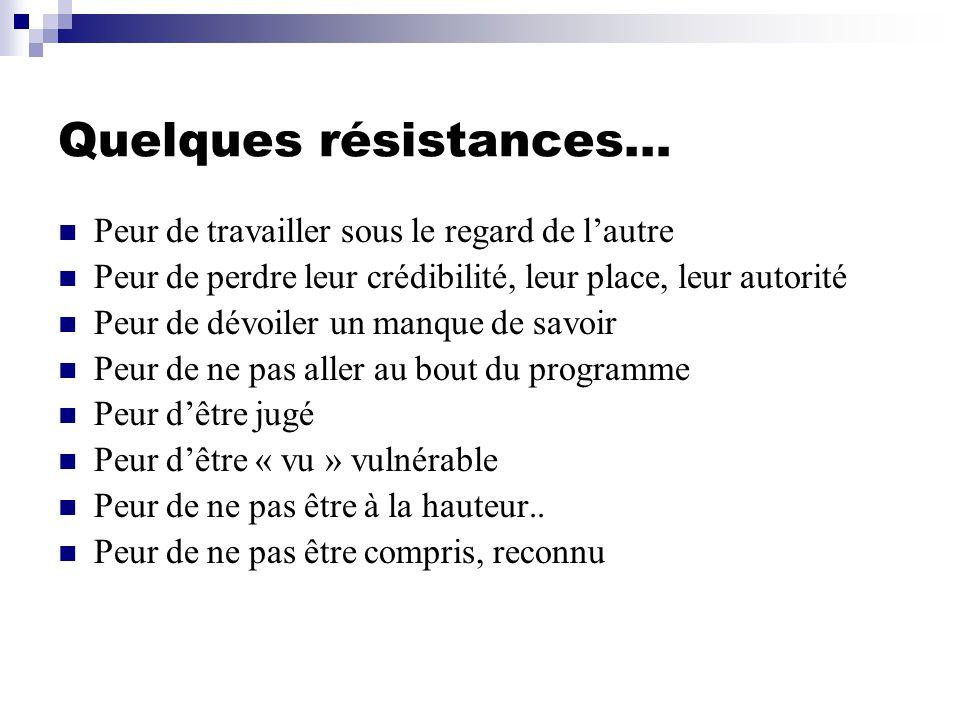 Quelques résistances…