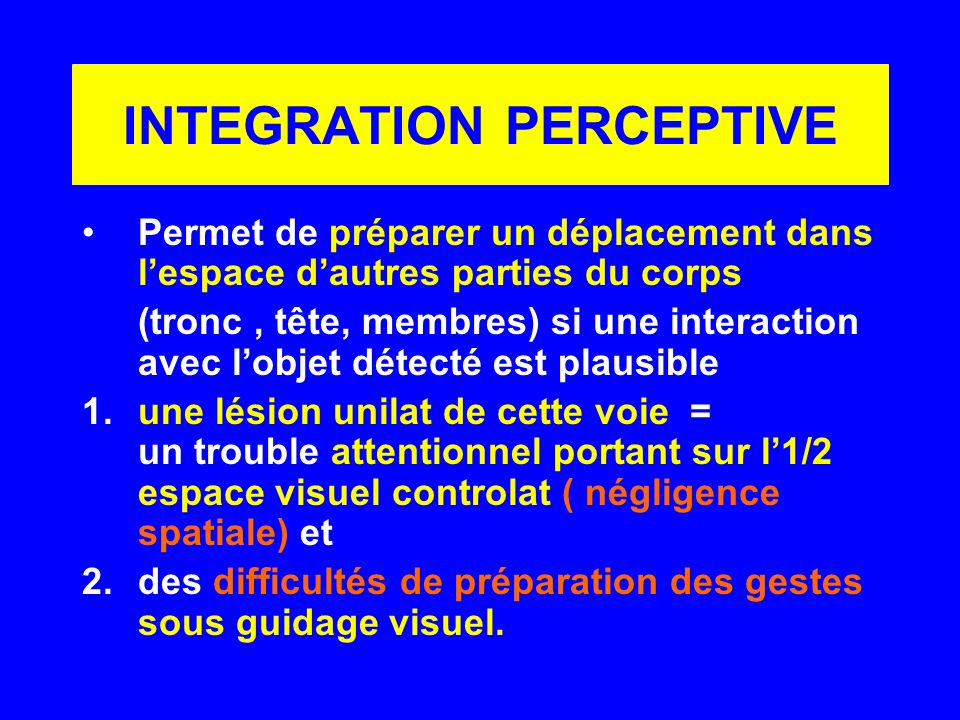 INTEGRATION PERCEPTIVE