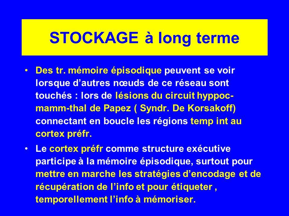 STOCKAGE à long terme