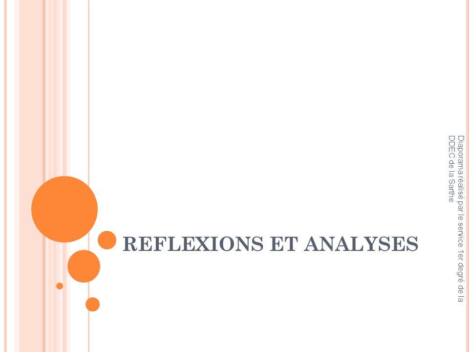 REFLEXIONS ET ANALYSES