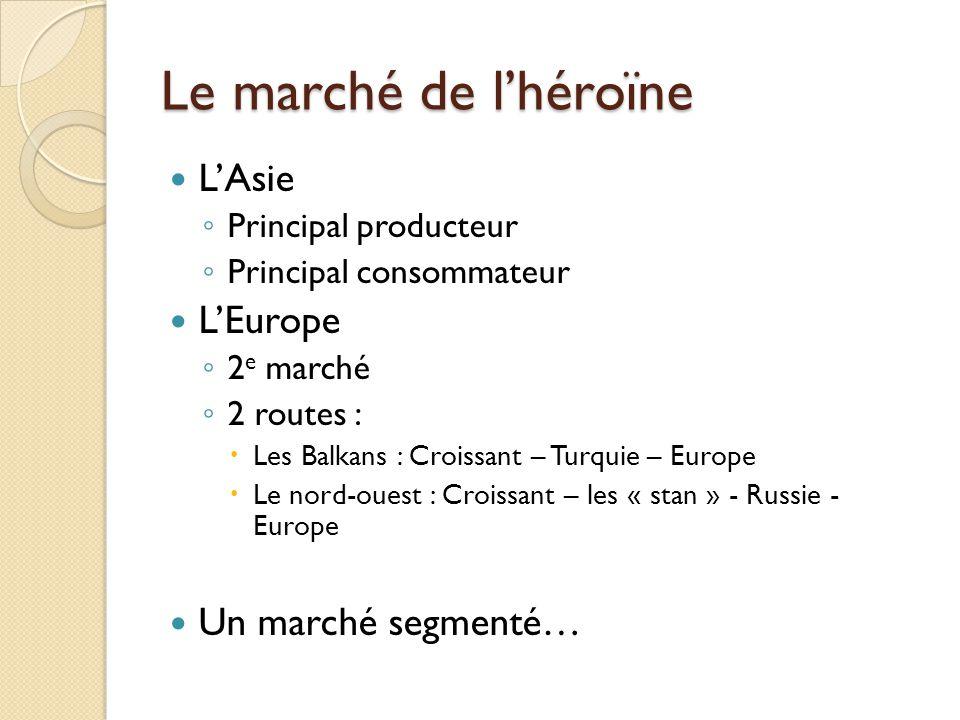 Le marché de l'héroïne L'Asie L'Europe Un marché segmenté…