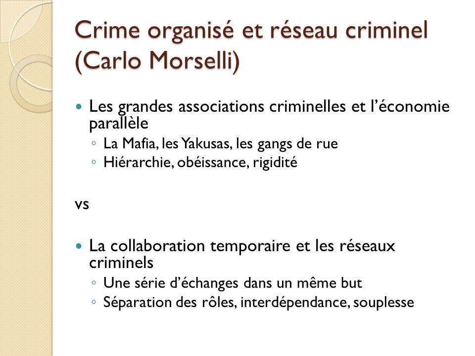 Crime organisé et réseau criminel (Carlo Morselli)