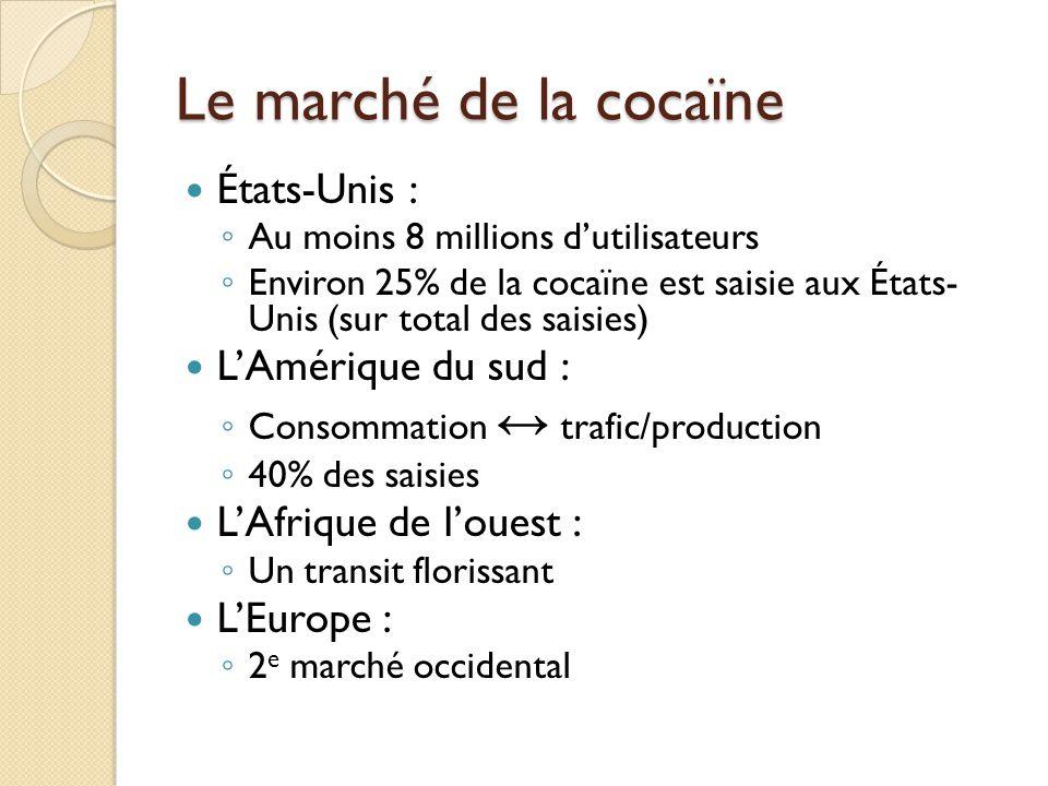 Le marché de la cocaïne États-Unis : L'Amérique du sud :
