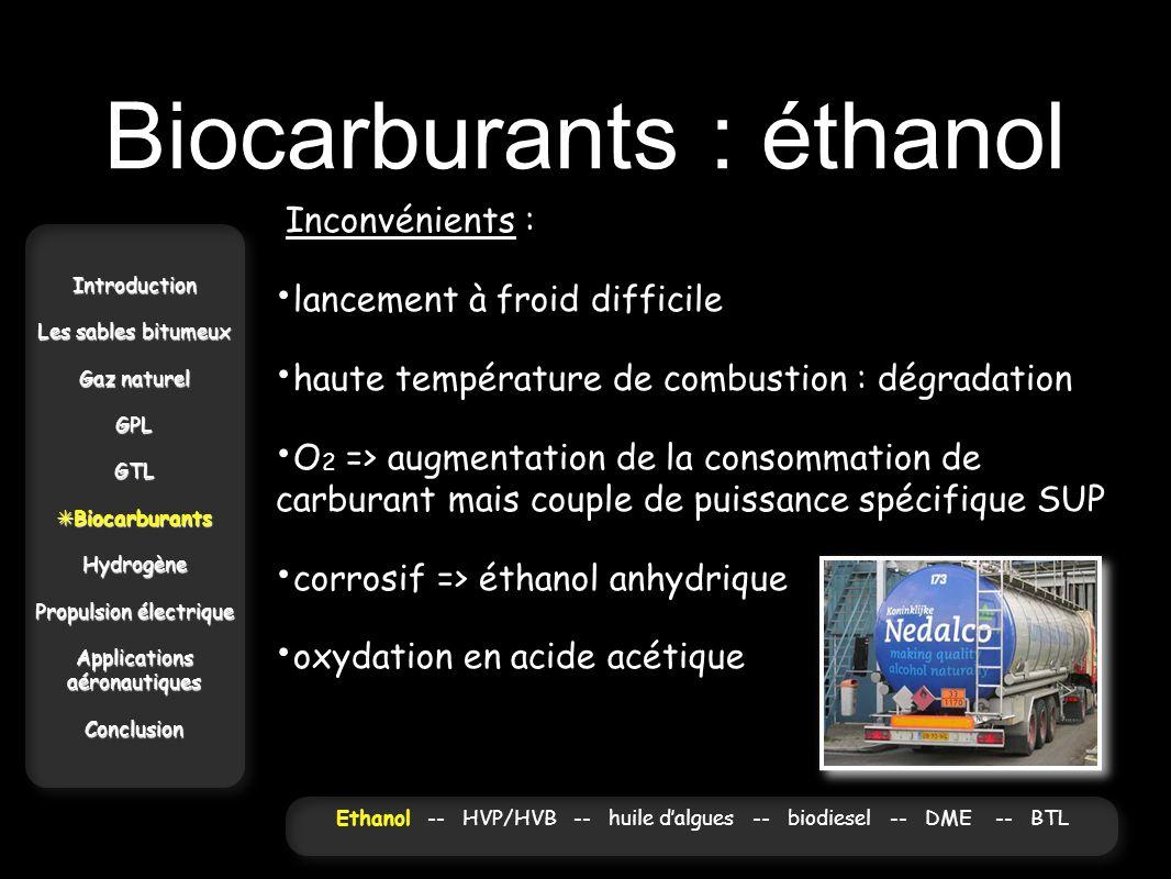 Biocarburants : éthanol