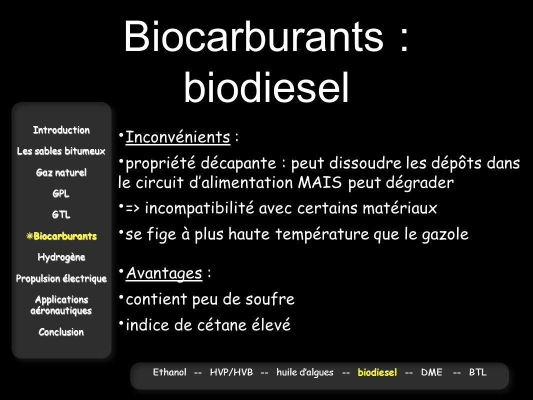 Biocarburants : biodiesel