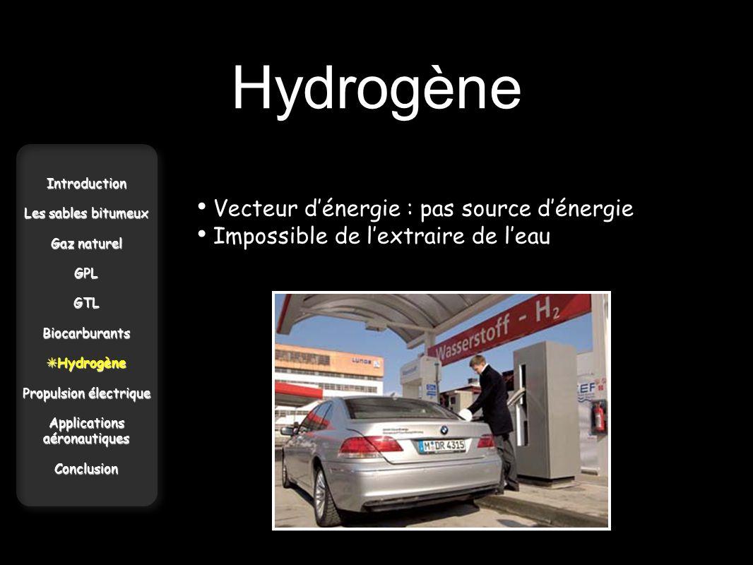 Hydrogène Vecteur d'énergie : pas source d'énergie