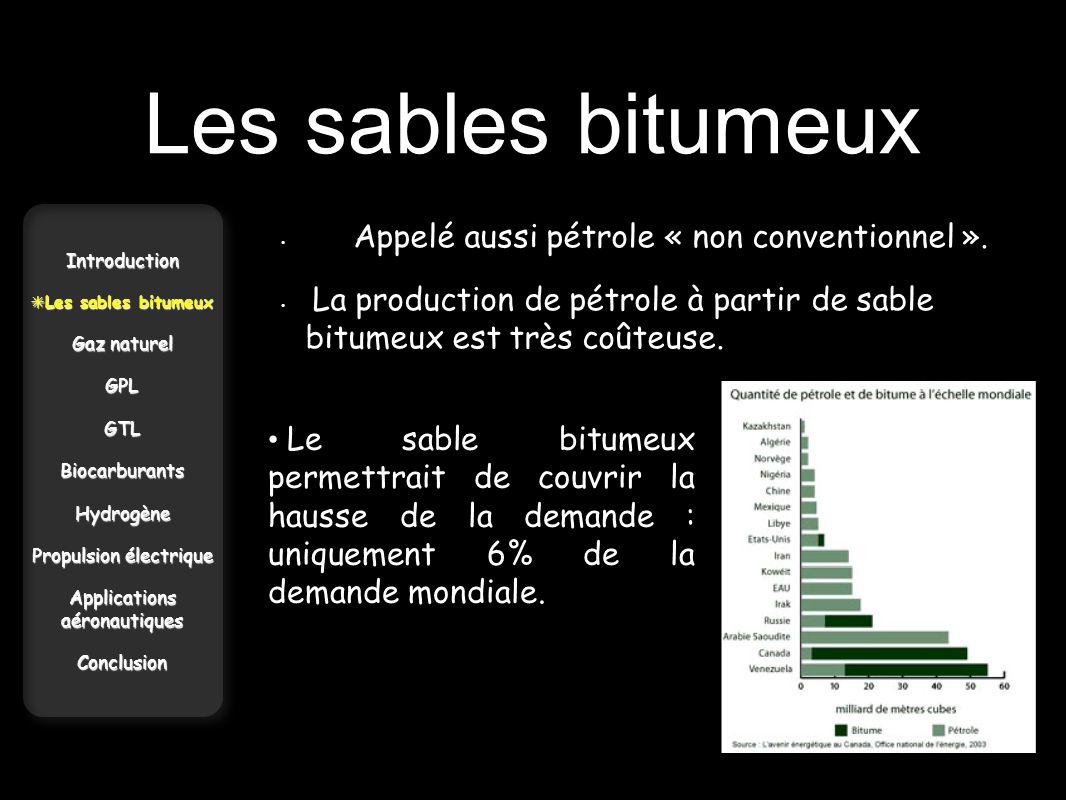 Les sables bitumeux Appelé aussi pétrole « non conventionnel ». La production de pétrole à partir de sable bitumeux est très coûteuse.
