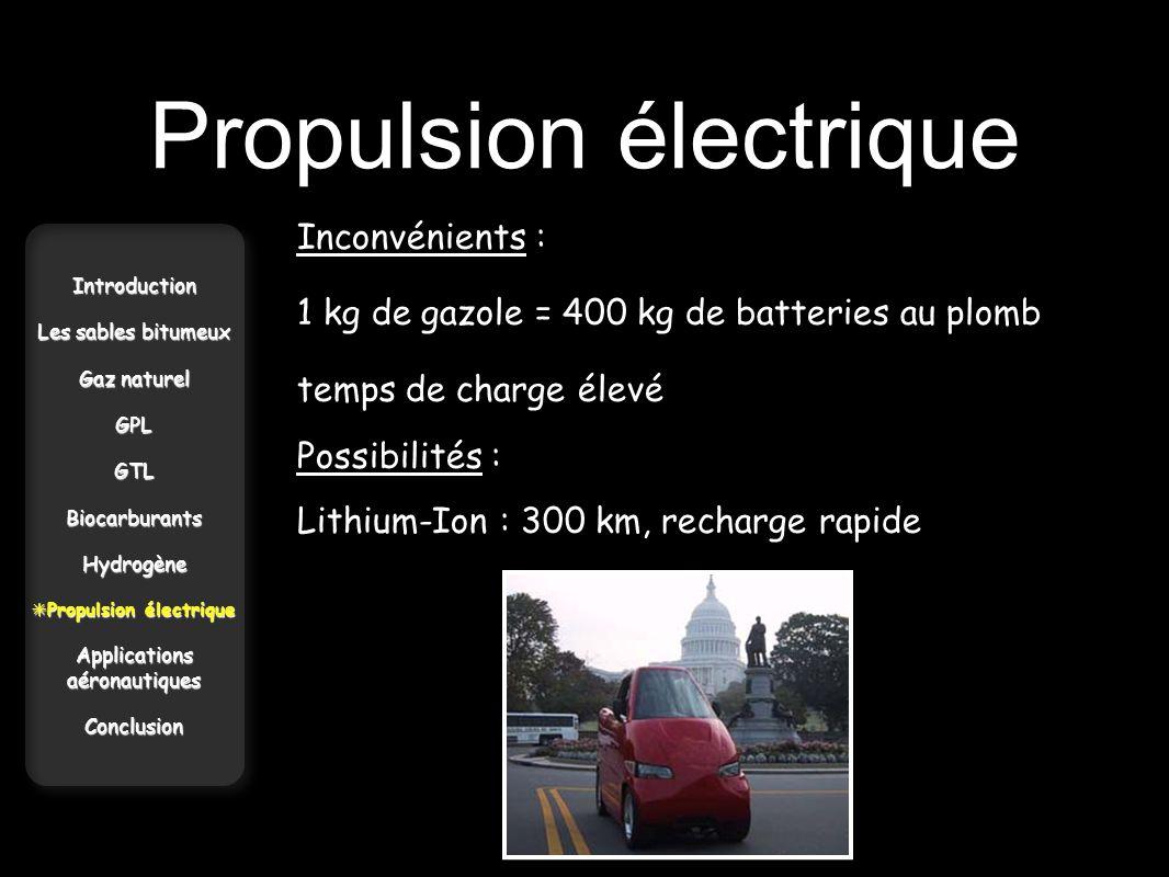 Propulsion électrique