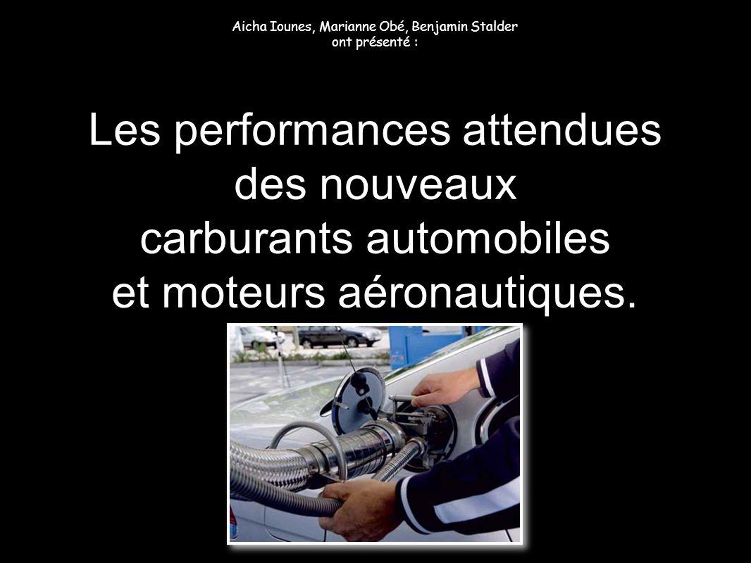Les performances attendues des nouveaux carburants automobiles