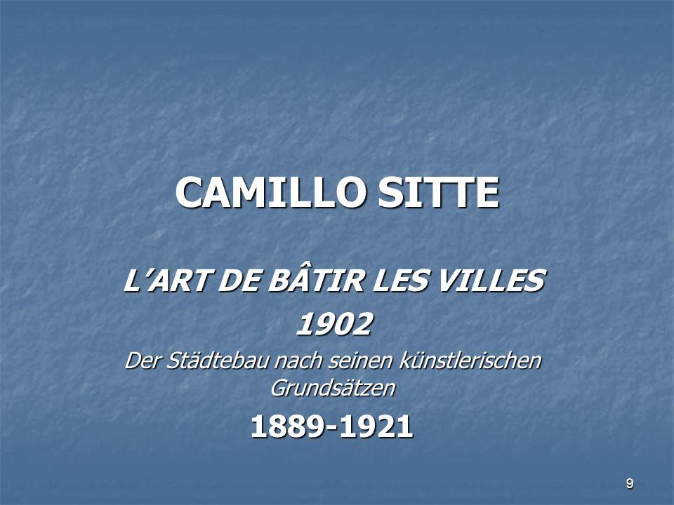 L'ART DE BÂTIR LES VILLES