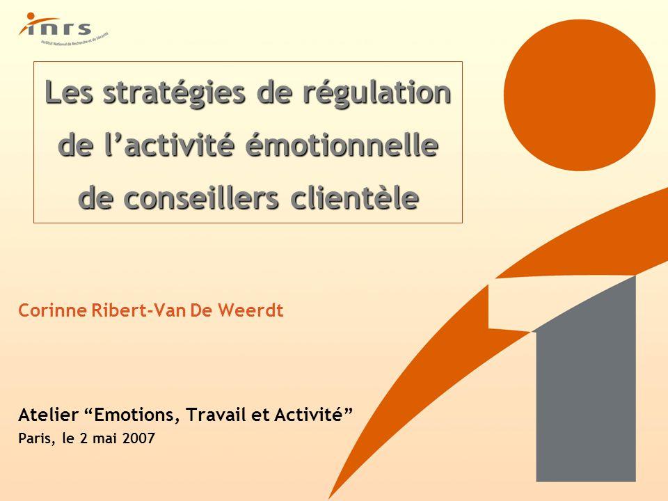 Les stratégies de régulation de l'activité émotionnelle de conseillers clientèle