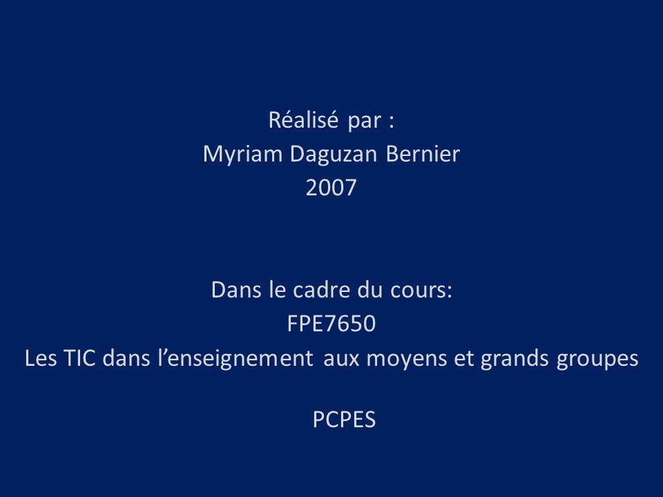 Myriam Daguzan Bernier 2007