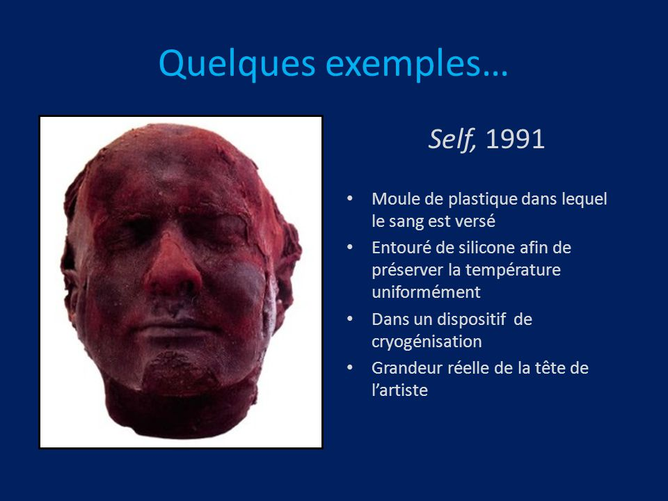 Quelques exemples… Self, 1991