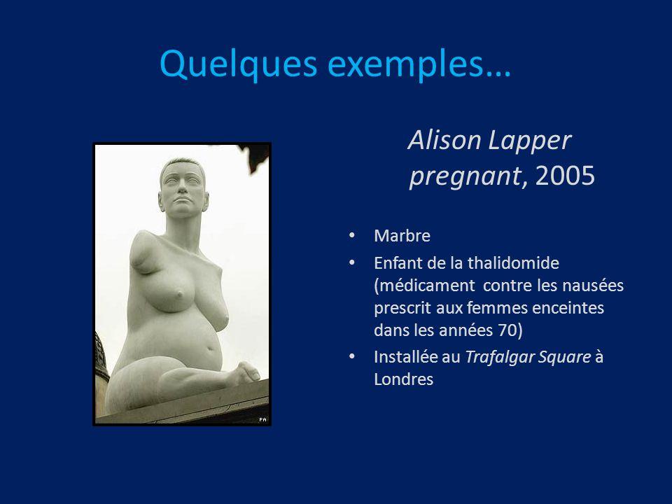 Alison Lapper pregnant, 2005