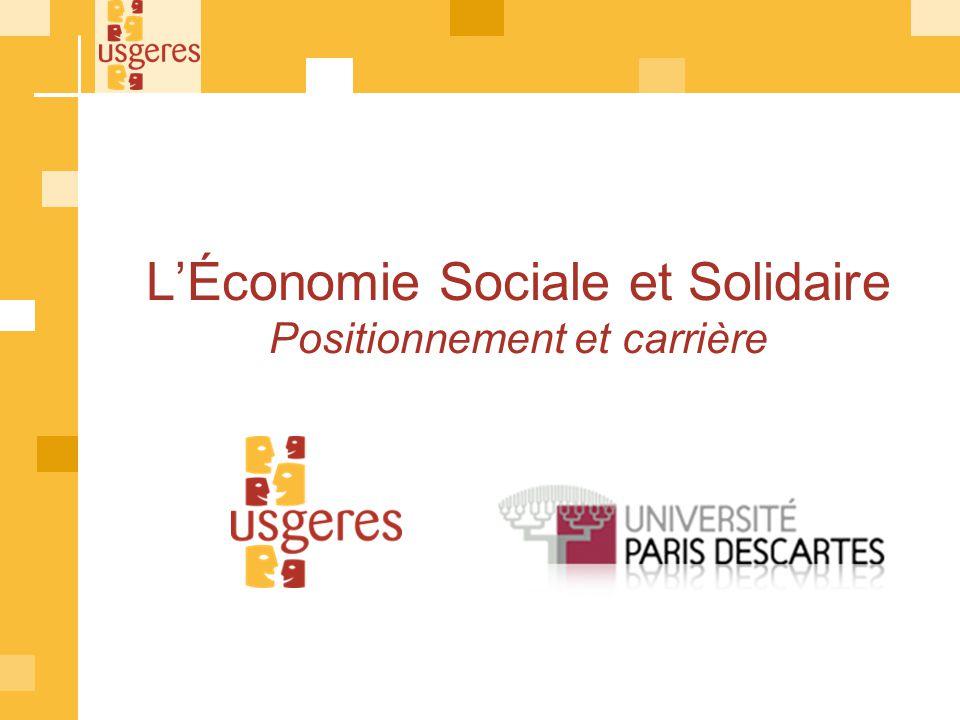 L'Économie Sociale et Solidaire Positionnement et carrière